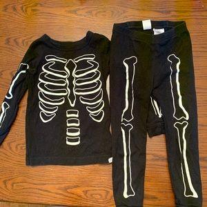 Glow in the dark skeleton pajamas